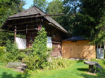 Photo for comfortable blockhouse for 2 persons with garden, lake nearby