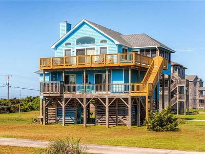 Photo for Boardwalk to Beach! Semi-Oceanfront, Rodanthe- Hot Tub, Pier Passes, Volleyball