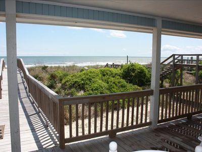 Photo for Charming Oceanfront Cottage at Holden Beach ~NC~