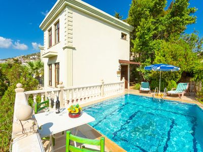 Photo for Villa Phellos: Private Pool, Walk to Beach, A/C, WiFi, Car Not Required