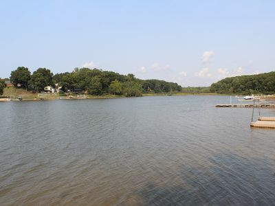 Photo for Saugatuck Home with 230' Sandy Beachfront, hot tub, horseshoes, 12 bicycles