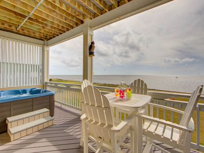 Photo for Amazing sound views Rodanthe Sunset Resort -  watersports, beach access, private hot tub, pool (R...