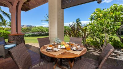 Outdoor dining with private Lanai and BBQ
