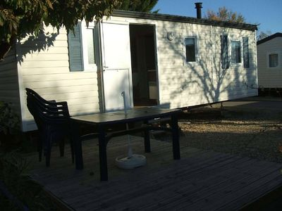 Photo for TO RENT MOBIL-HOME 3 ROOMS CLIMATISE + TV A VIC LA GARDIOLE