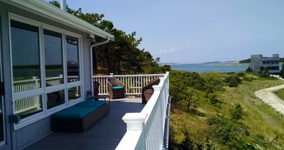 Photo for Lovely 3BD Waterfront Home--A/C, Big Deck, Sunsets & Everchanging Water Views