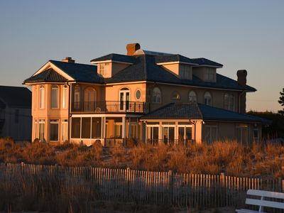 Photo for OCEANFRONT GATED ESTATE @ end of Boardwalk! Pool, hot tub & sleeps 14