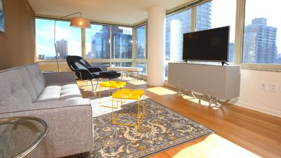 Photo for Designer-decorated luxury 2 bed 2 Bath W/ Laundry In unit! Sky View GYM Deck!5175