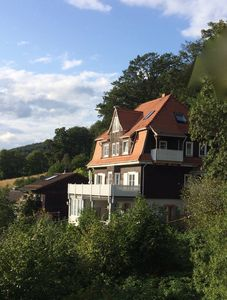 Photo for Waldheim Lindenfels Apartment at the forest & above the roofs of Lindenfels