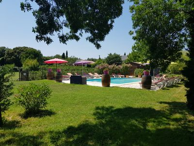 Photo for 2 persons cottage with pool Montpellier Terrace, enclosed garden.