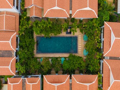Photo for Four Bedroom with Pool View +balcony including breakfast and airport transfer