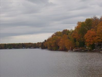 Cotton Lake in the fall
