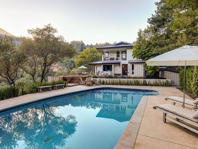 Photo for FRONT ROW MT TAM VIEWS! POOL, HOT TUB, SAUNA, sleep8, designer home, 4 bd, 3.5 b