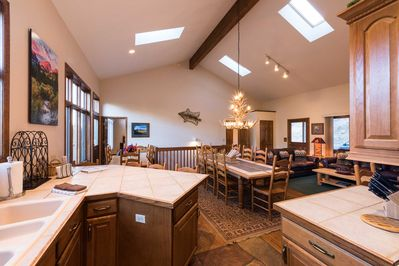 Large Great Room with Kitchen, Living and Dining Areas - Lots of Light!