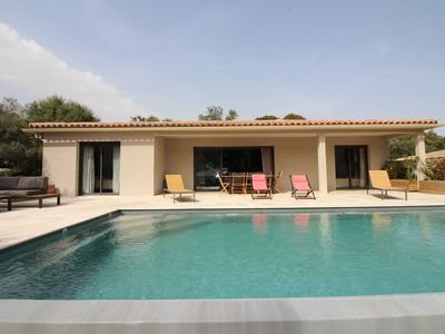 Photo for villa with heated pool 10mns from porto vecchio quiet
