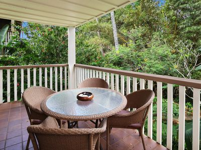 Photo for Waikomo Stream Villas #523: Updated, Bright End-Unit with Lovely Garden View!