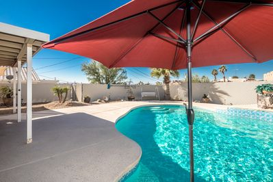 Large 32' by 21 ft pool for family fun!