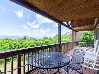 Photo for 3BD/3BA Mountain Home, Sits above Ski Slopes, Big Views, Hot Tub, King Master Suite, 3 mi from Blowing Rock