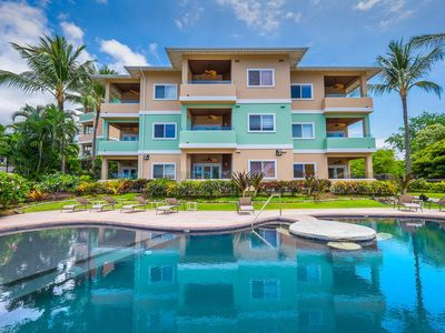 Photo for Penthouse Unit built 2007, Across from Kahaluu Beach, Fantastic Ocean Views!