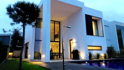 Photo for New Modern Villa in Moraira Walking Distance to Restaurants & the Sea