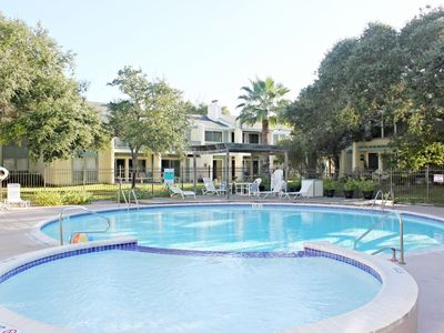 Photo for Rockport Racquet and Yacht Club condo with lovely tree covered grounds, pool, and fishing!
