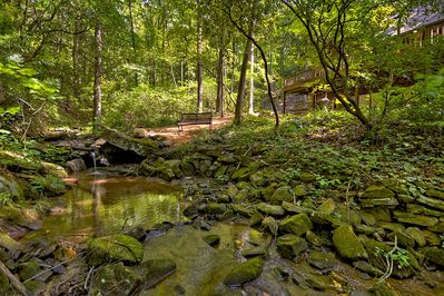 Lake Lodge - Creek on property