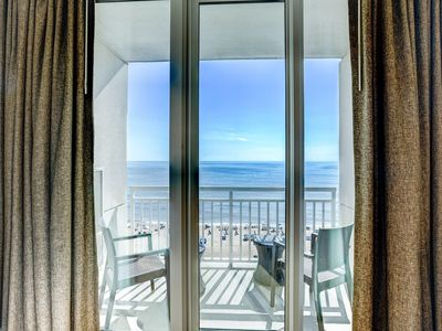 Photo for Modern Ocean Front Suite w/ Private Balcony, Free WiFi & Resort Game Room