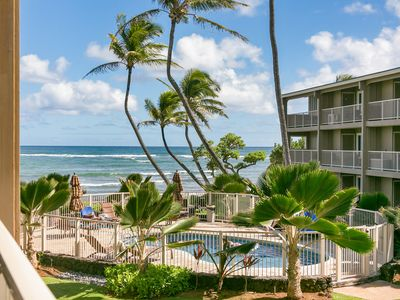 Photo for Ocean Breeze Kapaa Condo with Pool and Ocean Views! (211-3)