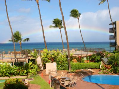 Photo for Ocean front Paradise! See whales in season! Near Kaanapali. Book Now!