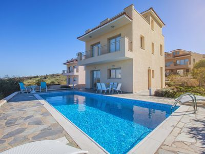 Photo for Luxury Villa - The best Sea Views in Paphos - Private Pool - Jacuzzi - Sauna