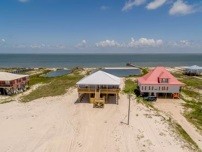 Photo for NEW LISTING! Waterfront home w/spacious decks near beach & Mississippi Sound