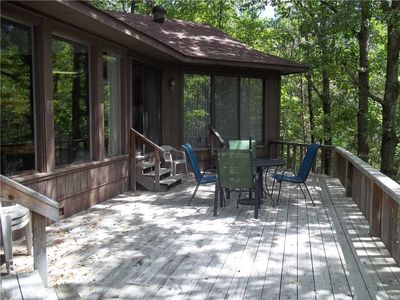 Photo for Nice 2 bedroom 2 bath House Great wooded view from the deck