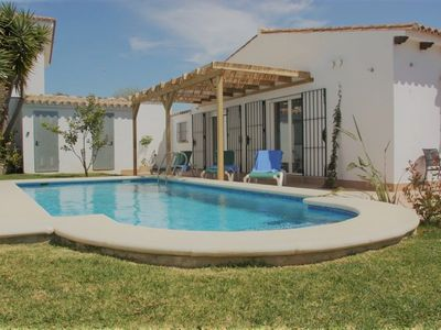 Photo for Beautiful holiday home near the beach with pool and beautiful garden and Wi-Fi