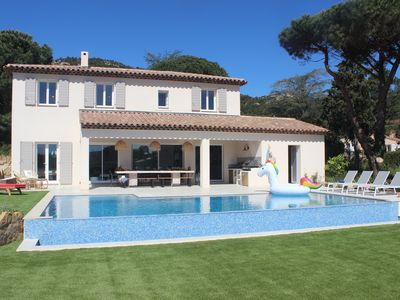 Photo for Luxury villa, fully air-conditioned, new 5 bedroomed villa with heated pool.