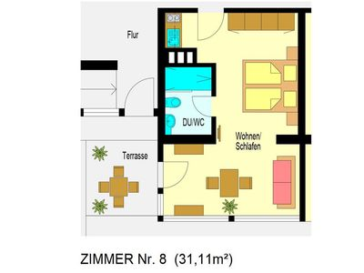 Photo for 1-Zimmer-Apartment (Nr. 8)