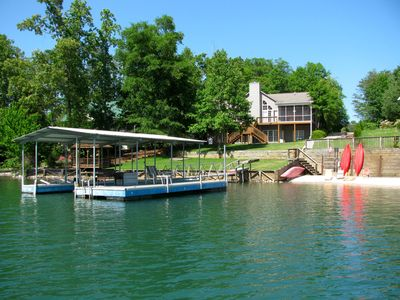 Level yard offers easy access to dock, gazebo, beach...and of course Lake Keowee