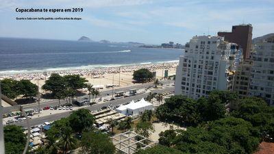 Photo for Copacabana View to Beach, front and high floor.