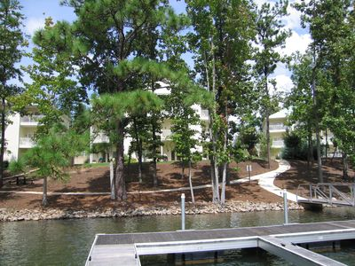 The Condo is located directly in front of the boat dock