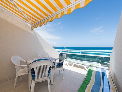 Photo for Apartment first line of Las Canteras beach. WIFI