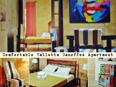 Photo for Typical Maltese 2 bedroom apartment in city center