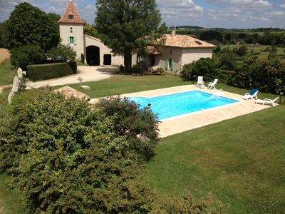Photo for Charming cottage and private pool classified 3 ears, in the heart of the country of Quercy