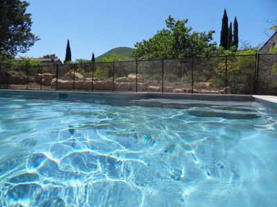 Photo for cottage in southern Ardèche with pool (4 X 8) on large fenced (4000m)