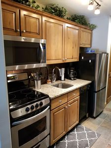 Stainless-steel and granite make meals a pleasure!