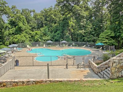 Photo for Secluded cabin w/ shared pool & on-site golf/basketball/tennis - dogs OK!