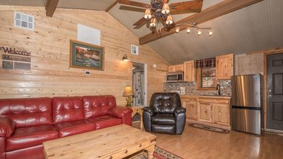 """Photo for Canyon Cabins - """"Raven"""" -  Upper Canyon - Romantic Whirlpool - Fireplace - Kitchen - Deck"""
