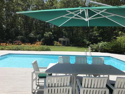 Photo for A writer's home minutes from ocean, convenient to Sag Harbor & Bridgeh.