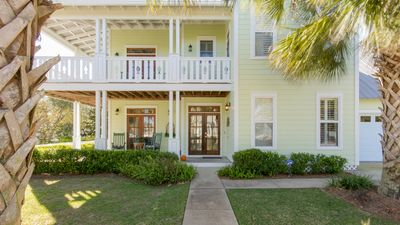 Photo for Steps to Beach & Community Pool! Huge Wraparound Porches in Family Neighborhood.