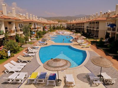 Photo for Rental 2+1 Aparts in Fethiye Calis in a Complex Shared Pool Seahorse 13. fully furnished, close to the center, up to 5 people 2 + 1-day rental apartments with a private beach.
