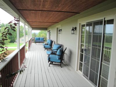 Front porch - spans the entire length of the home.