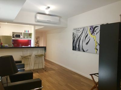 Photo for Studio in luxury condo, pool, sauna, laundry, security and more!