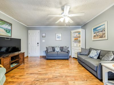 Photo for NEW LISTING! Spacious, family-friendly condo just two blocks from the beach!